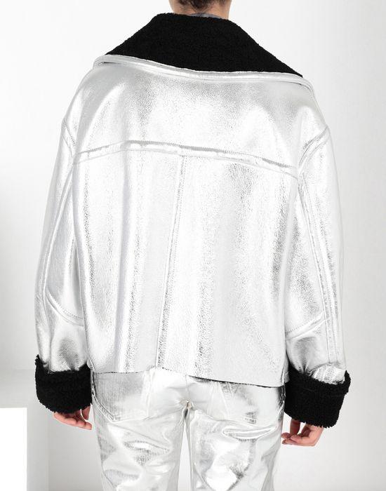 MM6 MAISON MARGIELA Silver leather shearling jacket Jacket [*** pickupInStoreShipping_info ***] d