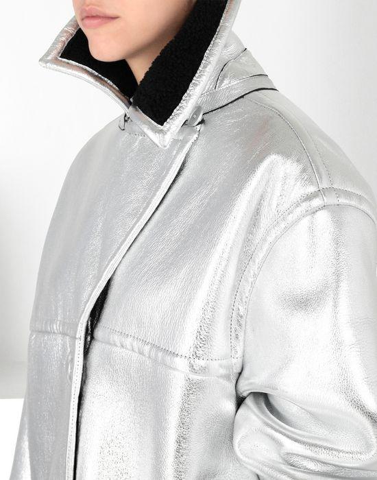 MM6 MAISON MARGIELA Silver leather shearling jacket Jacket [*** pickupInStoreShipping_info ***] e
