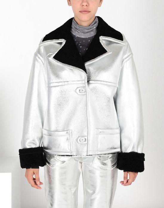 MM6 MAISON MARGIELA Silver leather shearling jacket Jacket [*** pickupInStoreShipping_info ***] f
