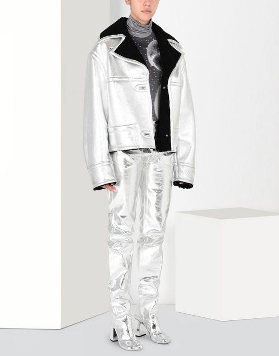 MM6 MAISON MARGIELA Silver leather shearling jacket Jacket [*** pickupInStoreShipping_info ***] r