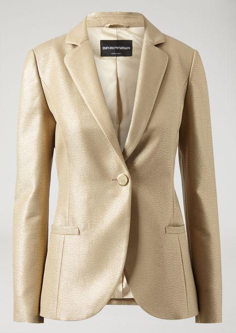 Single-breasted lurex twill jacket