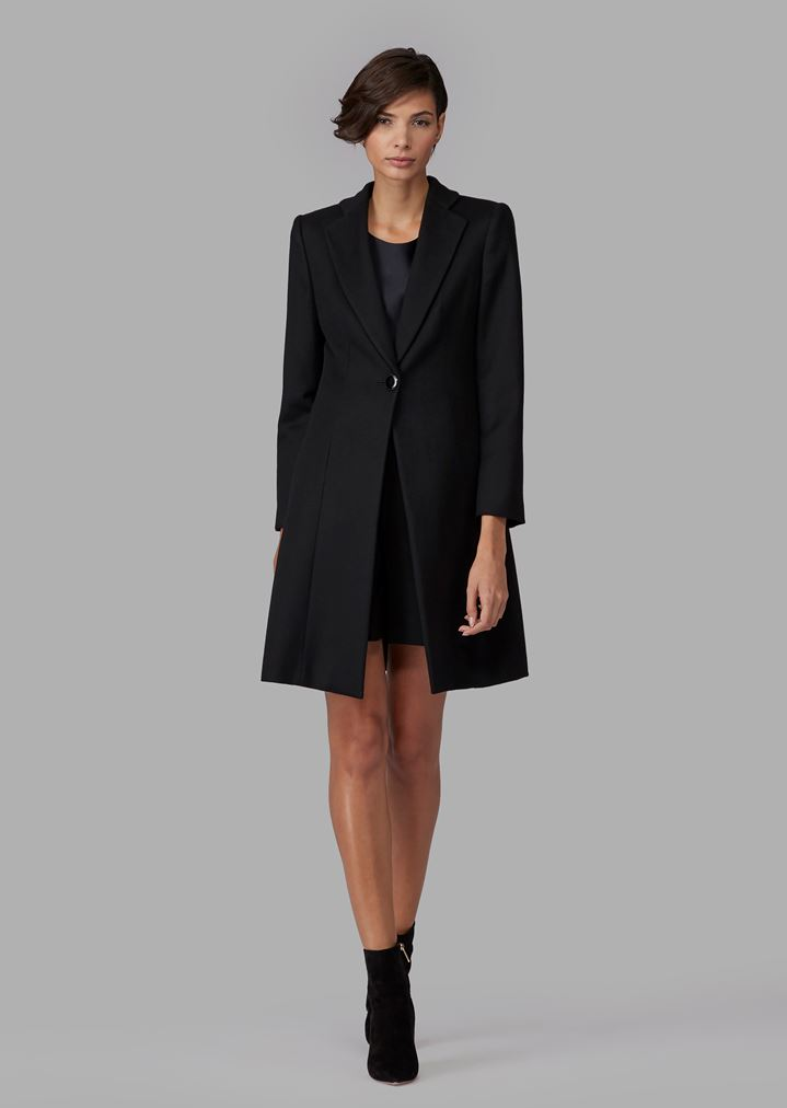 3bf0d3fe77 Pure cashmere single-breasted coat