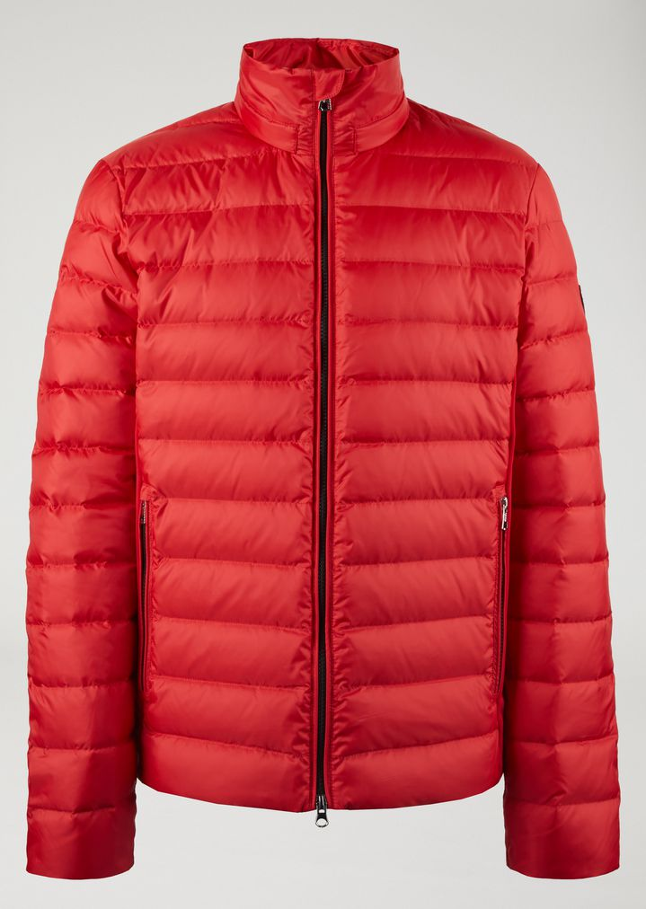 Quilted Down Jacket With Full Zip Fastening Man Ea7