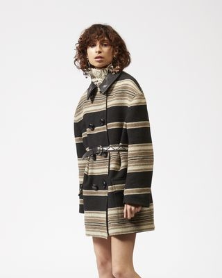 ISABEL MARANT COAT Woman HILDA striped coat r