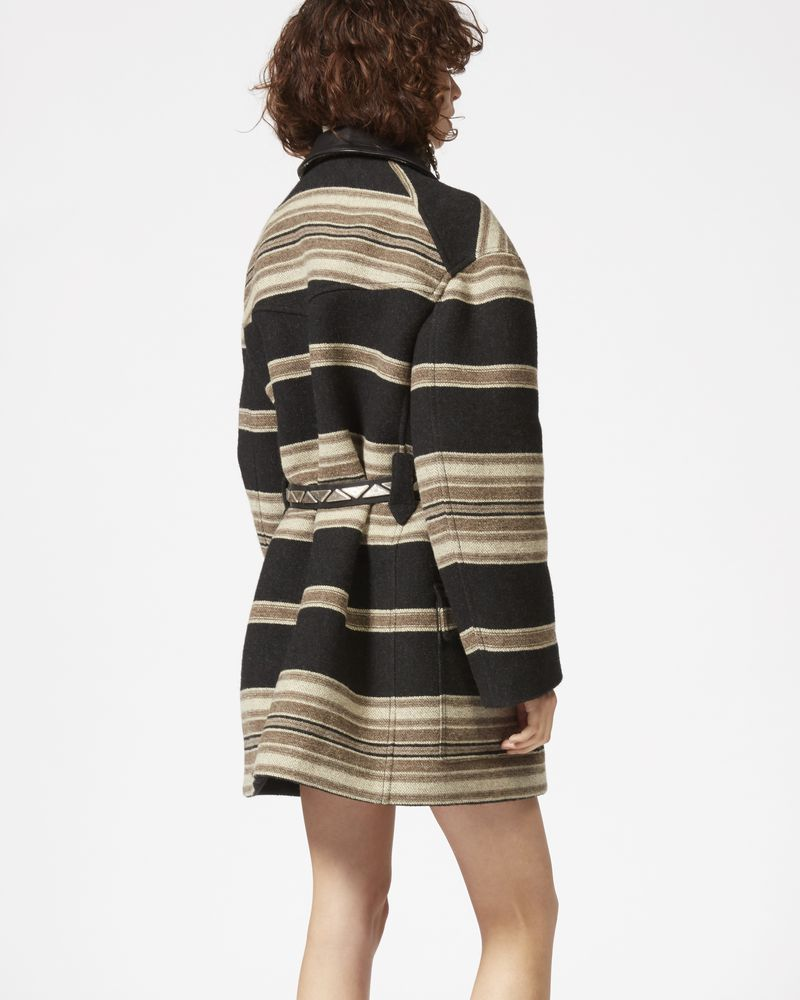 HILDA striped coat ISABEL MARANT