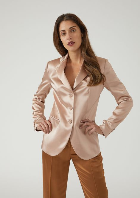 Single-breasted double satin jacket