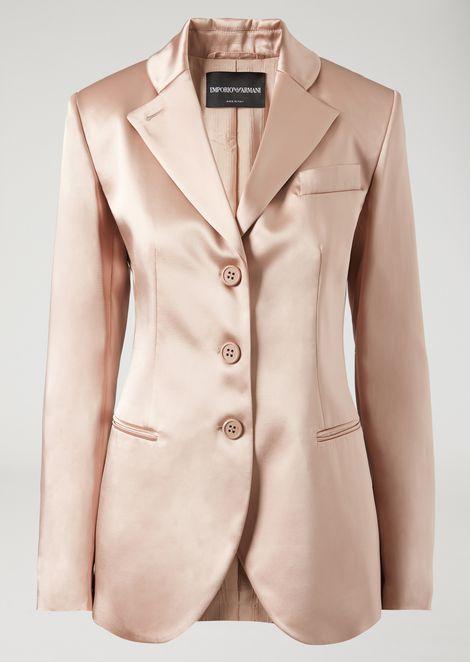 Single-breasted double satin jacket