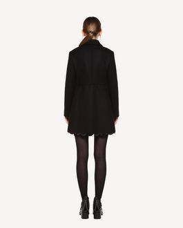 REDValentino Naval Wool coat with scallop detail