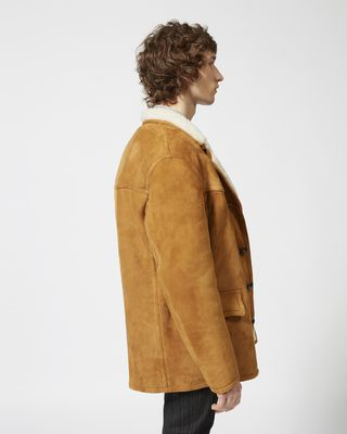 ISABEL MARANT COAT Man ARMEL shearling coat r