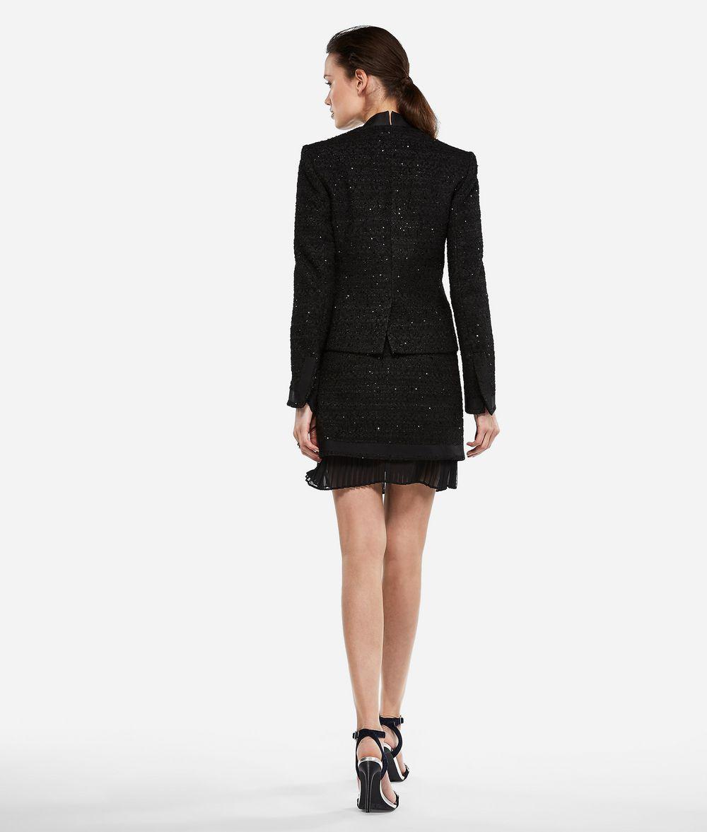 KARL LAGERFELD Sequin Bouclé Jacket Jacket Woman d
