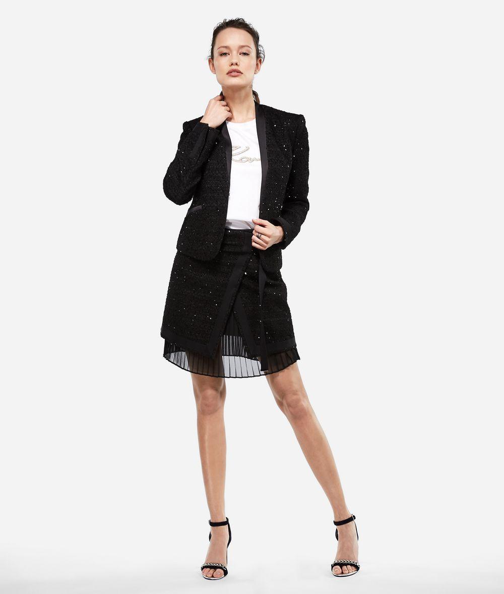 KARL LAGERFELD Sequin Bouclé Jacket Jacket Woman f