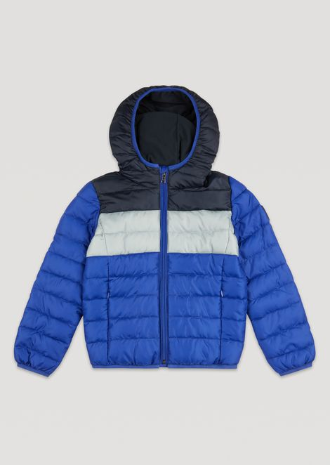 Padded and quilted jacket with hood