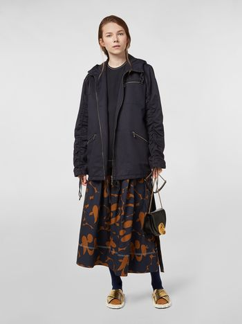Marni Drawstring jacket in cotton-and-linen drill Woman