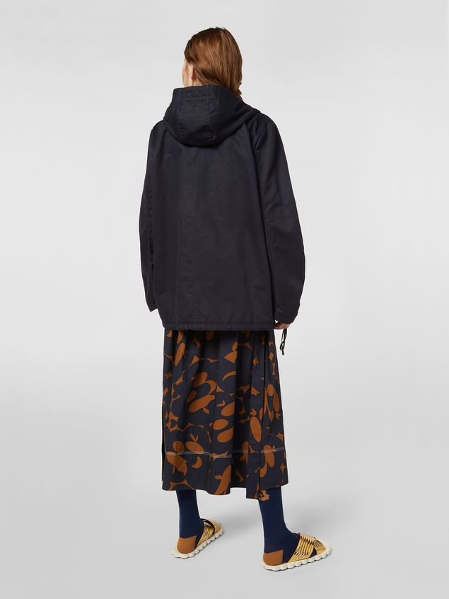 Marni Drawstring jacket in cotton and linen drill Woman