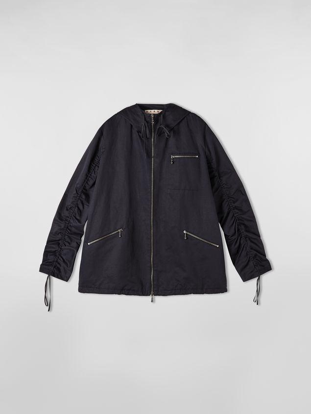 Marni Drawstring jacket in cotton and linen drill Woman - 2