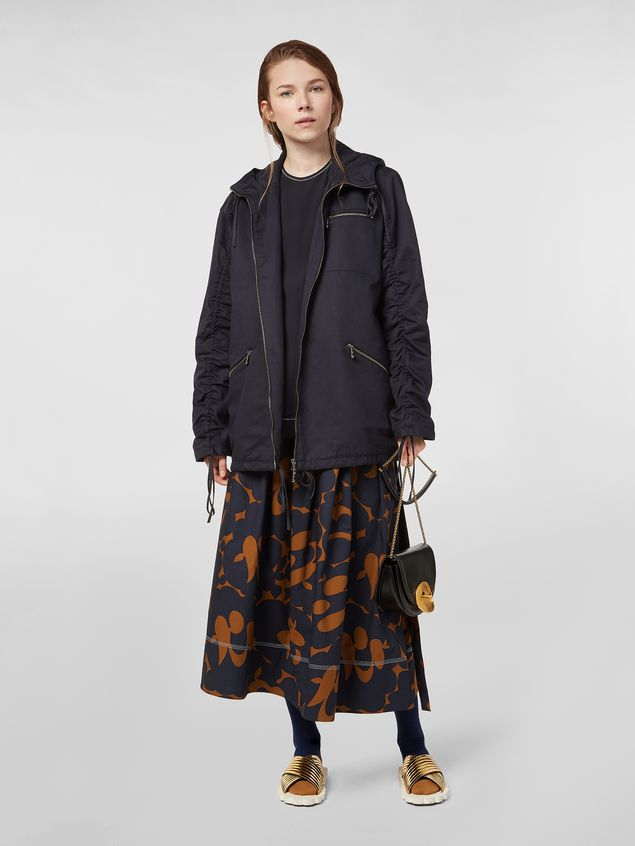 Marni Drawstring jacket in cotton and linen drill Woman - 1