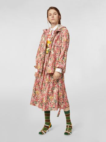 Marni Hooded jacket in techno fabric Melville print Woman