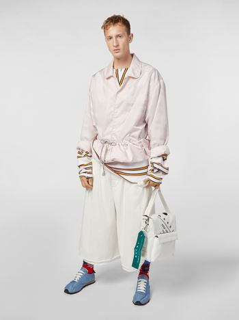 Marni Bomber jacket in nylon pink Man
