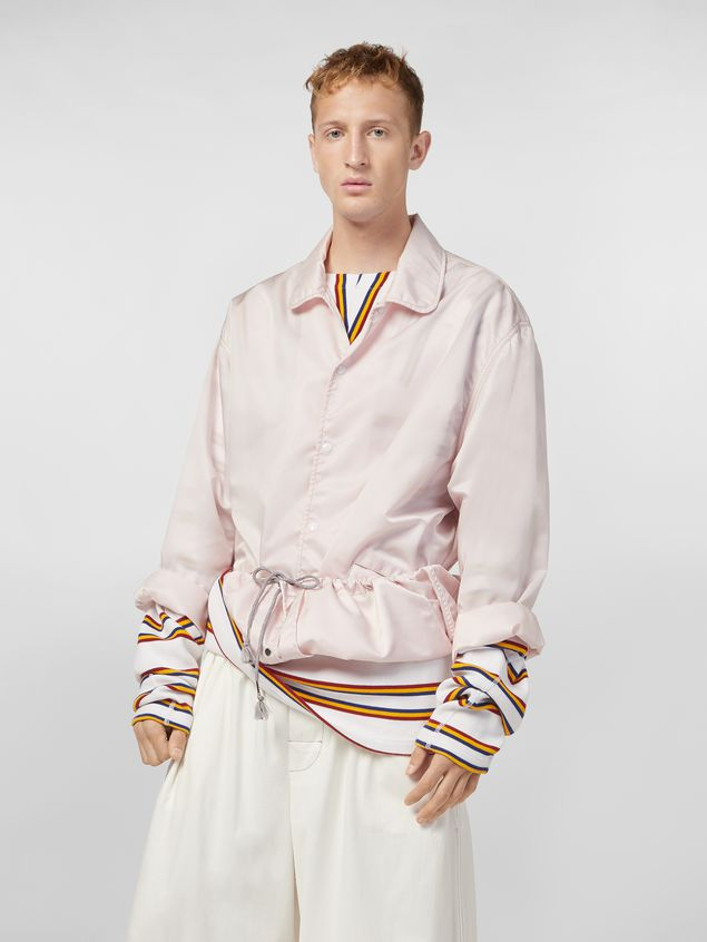 Marni Bomber jacket in nylon pink Man - 5