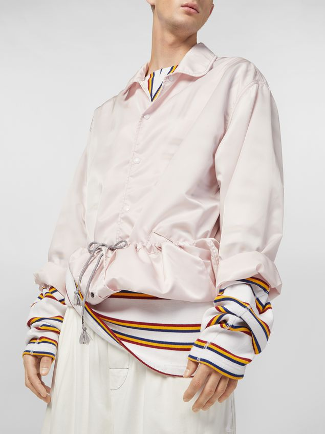 Marni Bomber jacket in nylon pink Man - 4