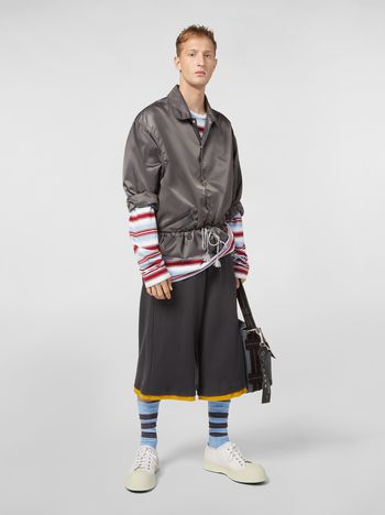 Marni Bomber jacket in nylon gray Man