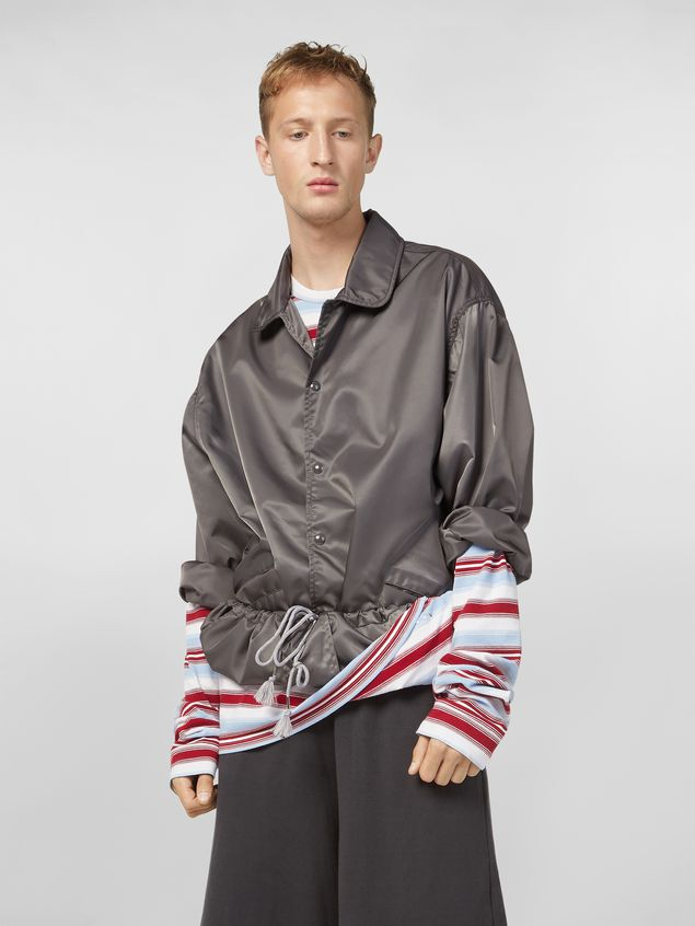 Marni Bomber jacket in nylon gray Man - 5