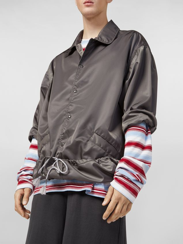 Marni Bomber jacket in nylon gray Man - 4