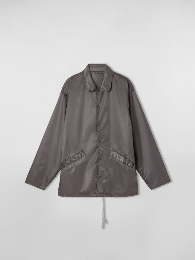 Marni Bomber jacket in nylon gray Man - 2