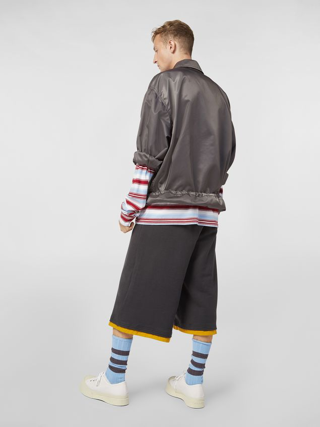 Marni Bomber jacket in nylon gray Man - 3