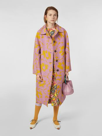 Marni Duster coat in cotton cady with Belou print Woman