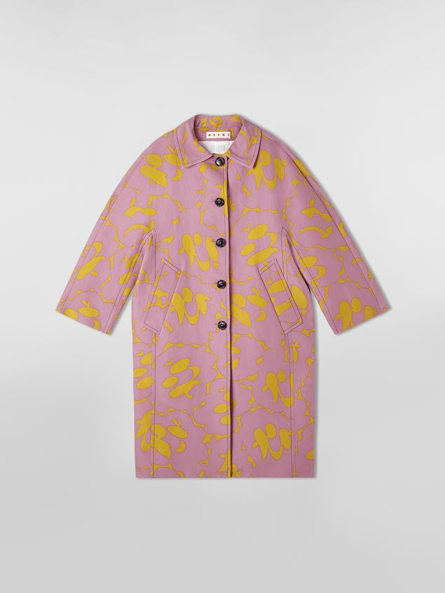 Marni Duster coat in cotton cady with Belou print Woman - 2
