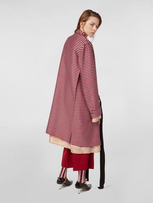 Marni Shawl-collar duster coat in micro plaid tweed Woman - 3