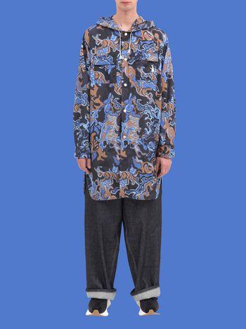 Marni Long jacket in light nylon with Dance Bunny print Man
