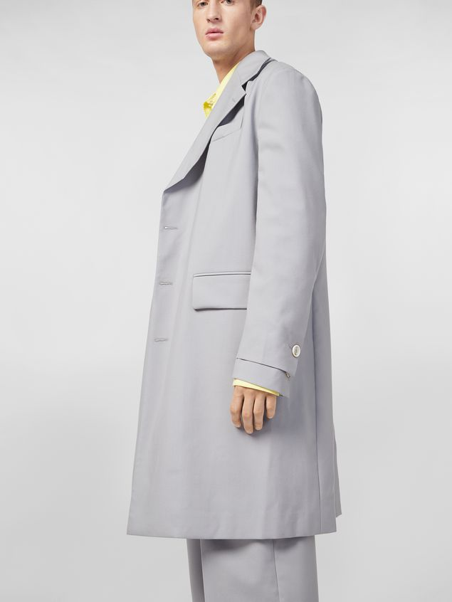 78be84ef16c MARNI Coat Man Coat in lightweight nylon canvas a. Marni Shirt in lightweight  cotton poplin with unfinished yellow borders ...