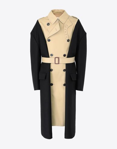 MAISON MARGIELA Two-tone trench coat Raincoat [*** pickupInStoreShippingNotGuaranteed_info ***] f