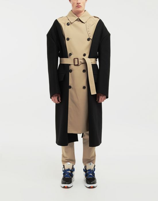 MAISON MARGIELA Two-tone trench coat Raincoat [*** pickupInStoreShippingNotGuaranteed_info ***] r