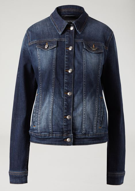 Stone washed denim jacket