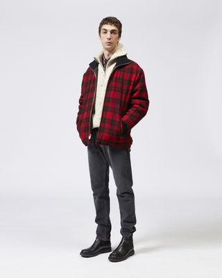 ISABEL MARANT COAT Man GEENO plaid coat  r