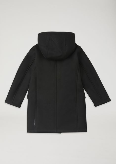 Broadcloth trench coat with padded lining and hood