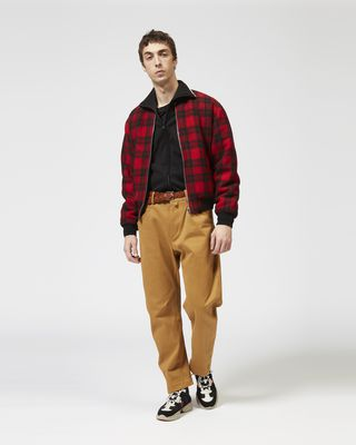 ISABEL MARANT COAT Man GUSS plaid baseball jacket r