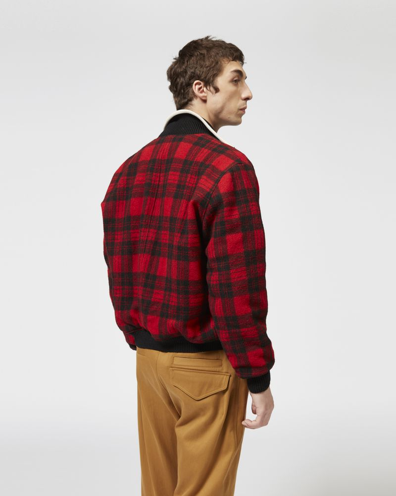 GUSS plaid baseball jacket ISABEL MARANT