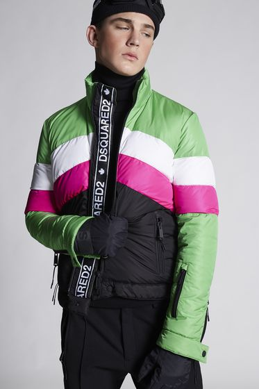 DSQUARED2 Nylon Ski Sportsjacket Kaban Man