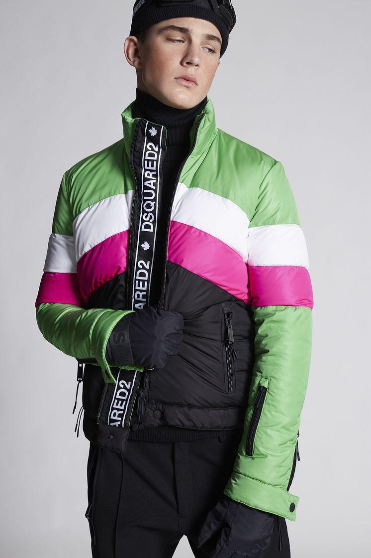 DSQUARED2 Nylon Ski Sportsjacket Kaban Man
