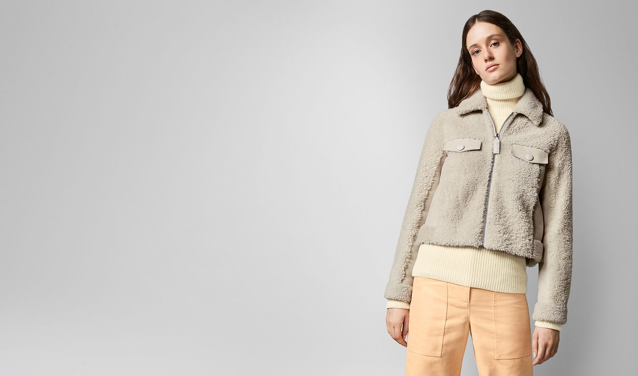 jacket in shearling  landing