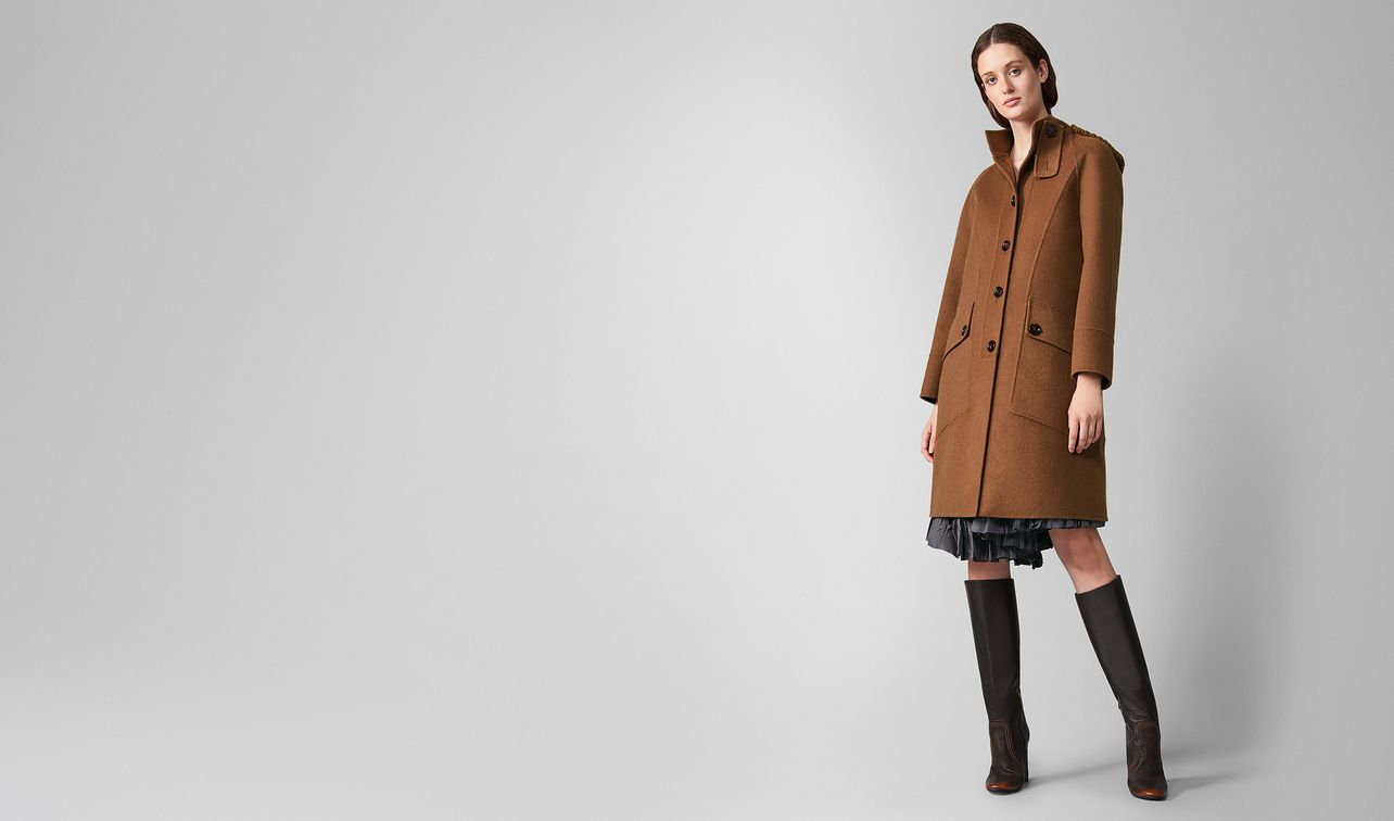 coat in double cashmere and wool landing
