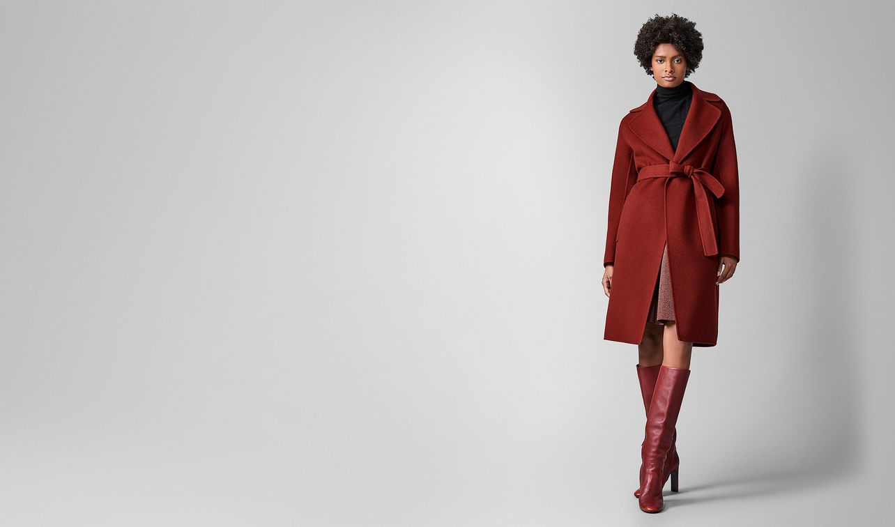 coat in double cashmere  landing