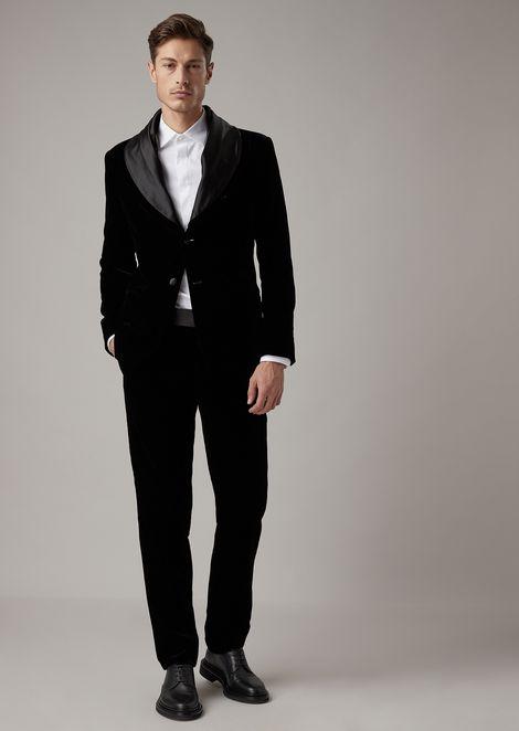 Soho tuxedo jacket in velvet with satin lapels