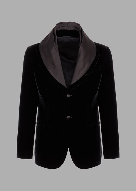 Soho tuxedo jacket in velvet with satin lapels