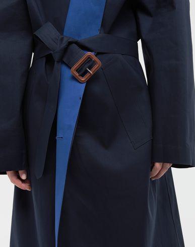 COATS & JACKETS Two-tone trench coat Blue