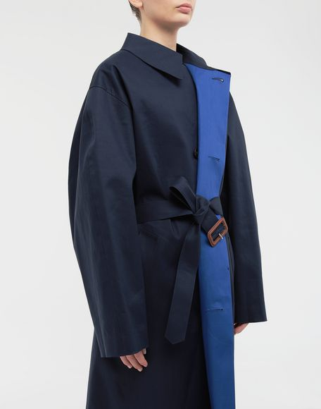 MAISON MARGIELA Two-tone trench coat Raincoat Woman a